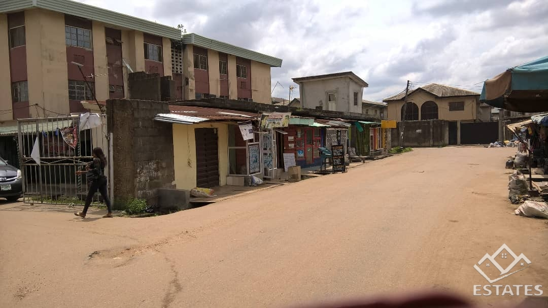 11 shops and a decked platform for residential flats for urgent sale